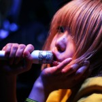 Josy vocalist Kumi pouts on stage at Japan Nite 2013.